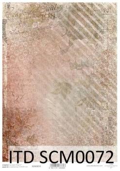 Papier scrapbooking SCM0072