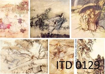 Papier decoupage ITD D0129