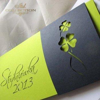 Zaproszenia  na studniówkę ZS_70 z elegancką kopertą