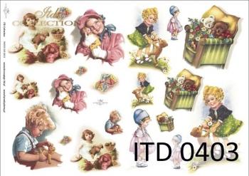 Papier decoupage ITD D0403