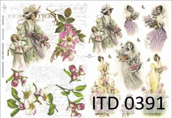 Papier decoupage ITD D0391