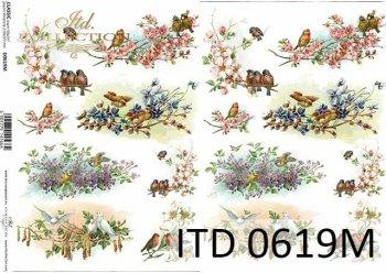 Papier decoupage ITD D0619M