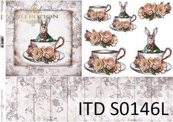 Papier decoupage SOFT ITD S0146L