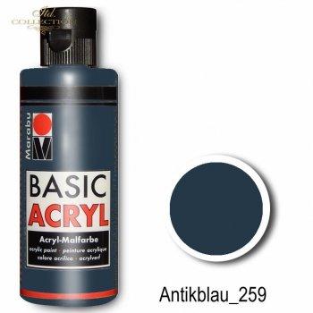 Farba akrylowa Basic Acryl 80 ml Antikblau 259