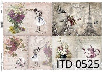 Papier decoupage ITD D0525