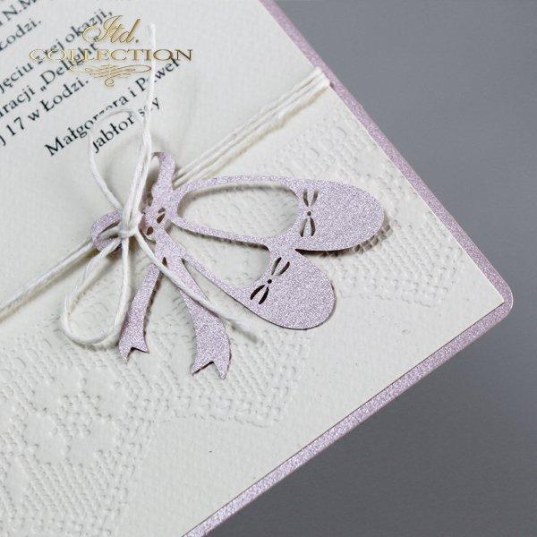 Приглашение на Святое Крещение 2028 розовый