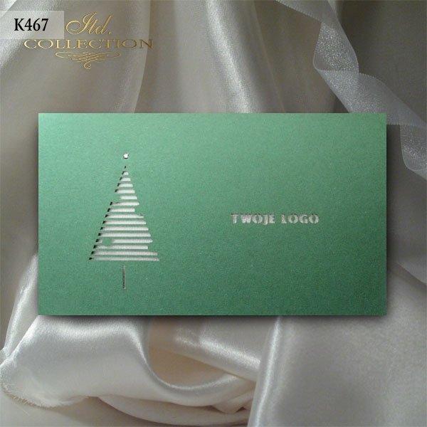 Рождественская и Новогодняя открытка K467