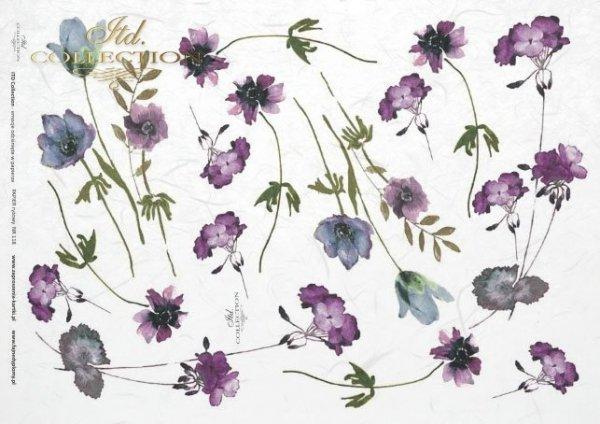 Niebiesko-fioletowe-delikatne-kwiaty-małe-kwiatki-dekoracje-kwiatowe-wiosenny-klimat-pachnącej-łąki-papier-ryżowy-do-decoupage-R0118