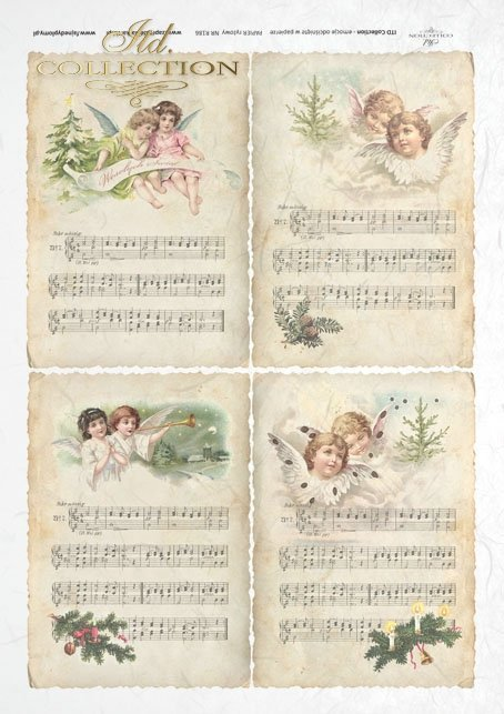 ITD Collection, decoupage, scrapbooking, mixed media, Christmas, angels