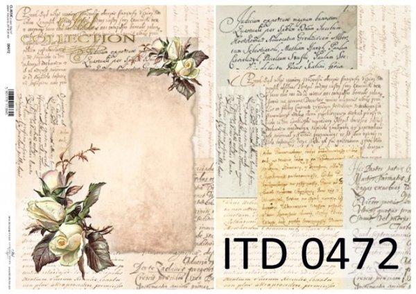 бумага для декупажа классическая D0472M