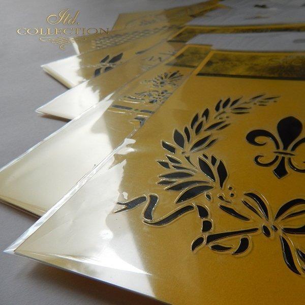 EXAMPLE - szablon do mix media stencil Schablone plantillas decoupage - 2