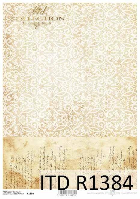 Papier decoupage Vintage, stare pismo, tło, tapeta*Decoupage paper Vintage, old letter, background, wallpaper