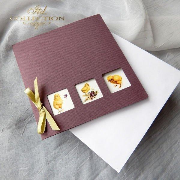 Пасхальная открытка с конвертом KW089