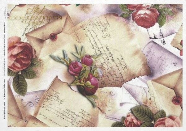 rice paper decoupage - flowers, Vintage*Reispapier Decoupage - Blumen, Weinlese*rýžový papír decoupage - květiny, Vintage