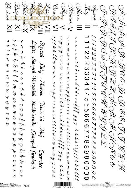 рисовая бумага для декупажа R0135