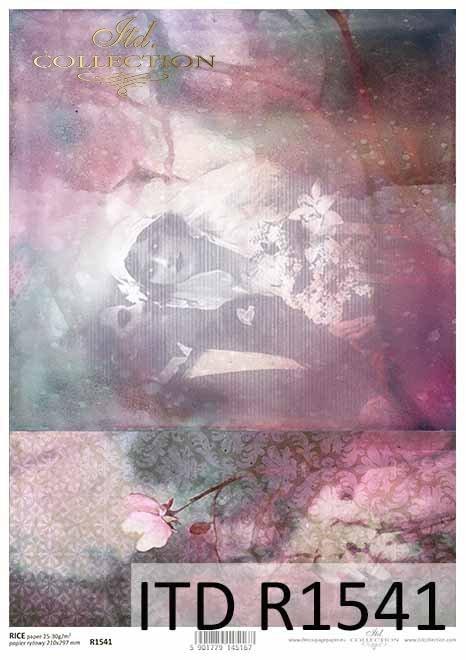 Papier-decoupage-R1541-retro-młoda-para-nowożeńcy-zakochani-Retro-decoupage-paper-young-couple-lovers