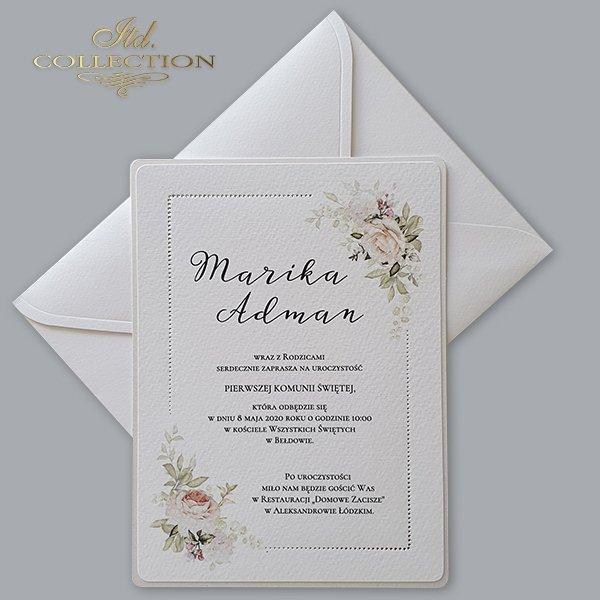 Zaproszenia komunijne, na komunię, dla dzieci*Communion invitations, for communion, for children