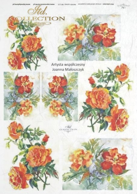 decoupage-painting-Joanna-Maloszczyk-flower-bud-buds-leaves-rose-roses-garden-R0112
