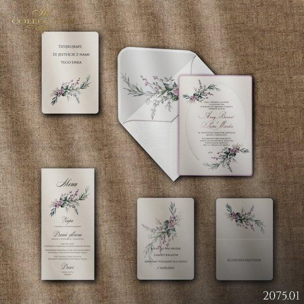 Zaproszenie 2075 * Zaproszenia ślubne * manu * winietki * Koperta z wklejką