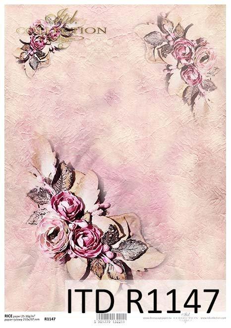 papier decoupage kwiaty*Paper decoupage flowers