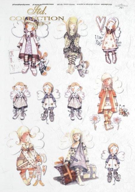 dzieciaki, Walentynki, serce, serca, drzewo, aniołek, aniołki, aniołkowo,  kwiat, kwiaty, kwiatek, kwiatki, ptaszek, zajączek, zajączki, Dorota Marciniak, R089