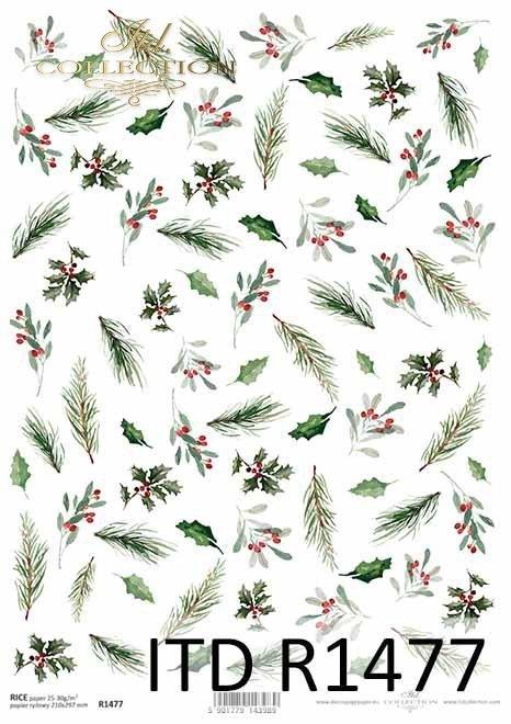 Boże Narodzenie, świąteczne kompozycje kwiatowe, ostrokrzew, jarzębina*Christmas, Christmas flower arrangements, holly, rowan