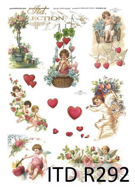 zakochani, Walentynki, serduszka, serduszko, serce, amor, amorek, R292