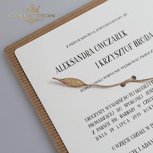 Zaproszenia ślubne*zaproszenia na ślub*zaproszenia okolicznościowe*zaproszenia Eko