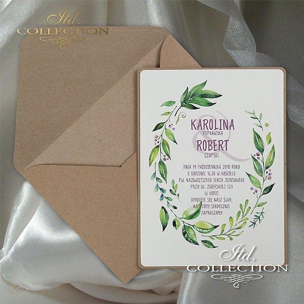 Zaproszenie 2063, zaproszenia ślubne*2063 invitation, wedding invitations