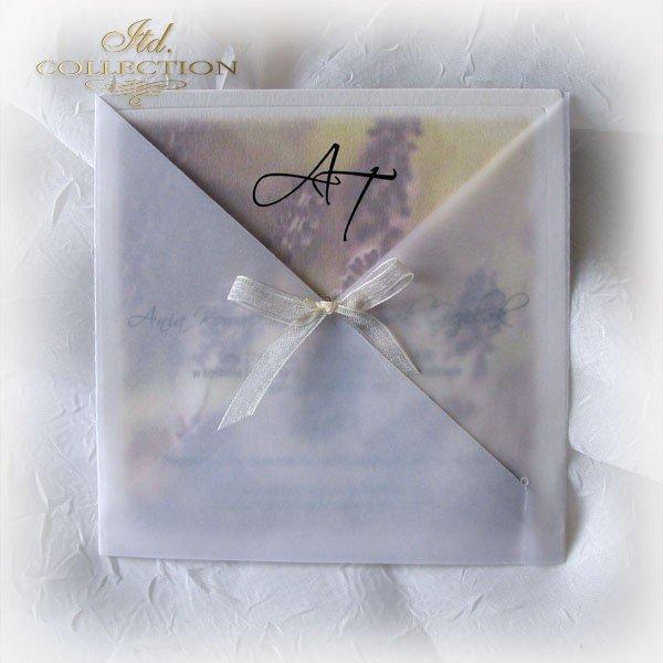 Einladungskarten / Hochzeitskarte 1721_Lavendel