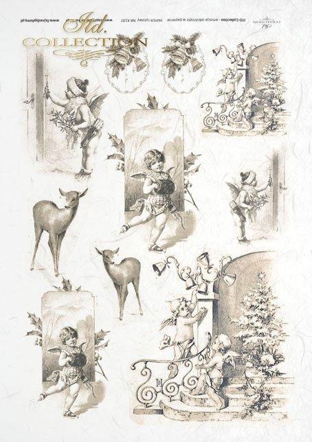 decoupage-scrapbooking-mixed-media-Christmas-winter-angel-angels