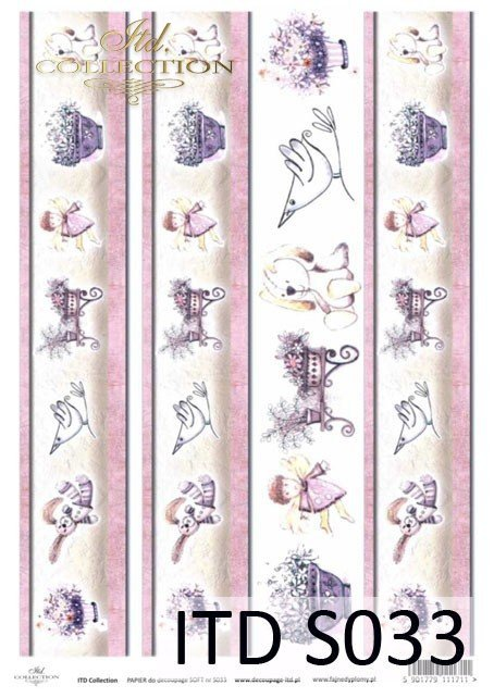 Decoupage paper Soft ITD S0033
