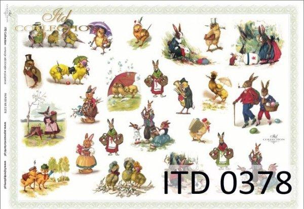 Decoupage paper ITD D0378M