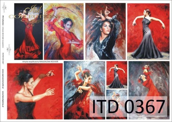 Decoupage paper ITD D0367M