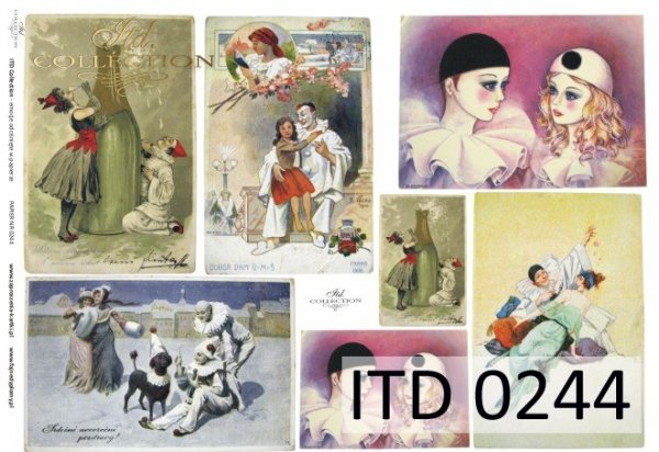 Decoupage paper ITD D0244M