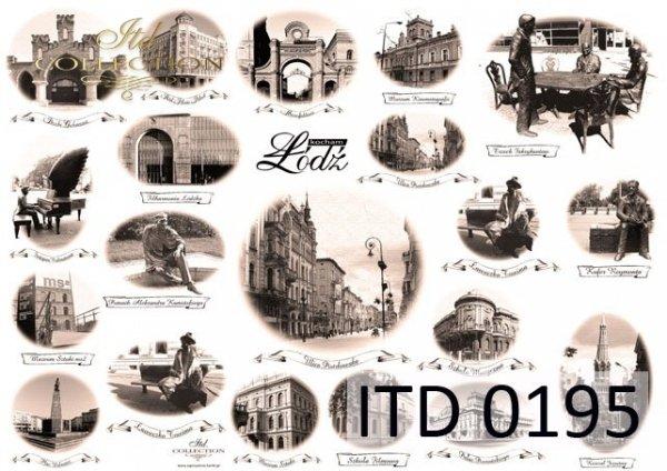 Decoupage paper ITD D0195M
