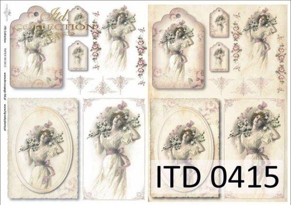 Decoupage paper ITD D0415M