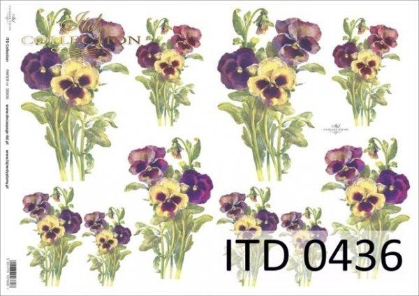 Decoupage paper ITD D0436M