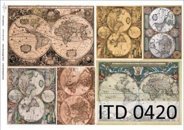 Decoupage paper ITD D0420M