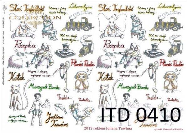 Decoupage paper ITD D0410