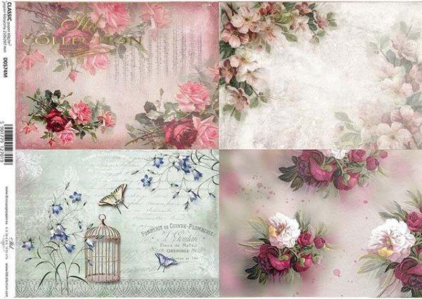 decoupage de papel con flores*Decoupage Papier mit Blumen