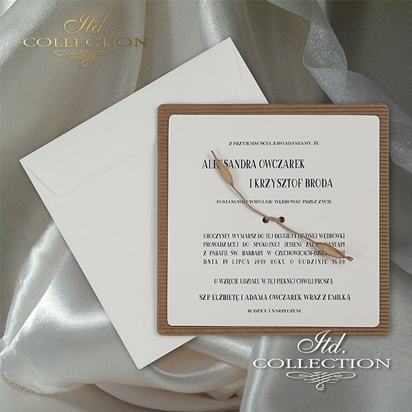 Zaproszenie 2064, zaproszenia ślubne*2064 invitation, wedding invitations
