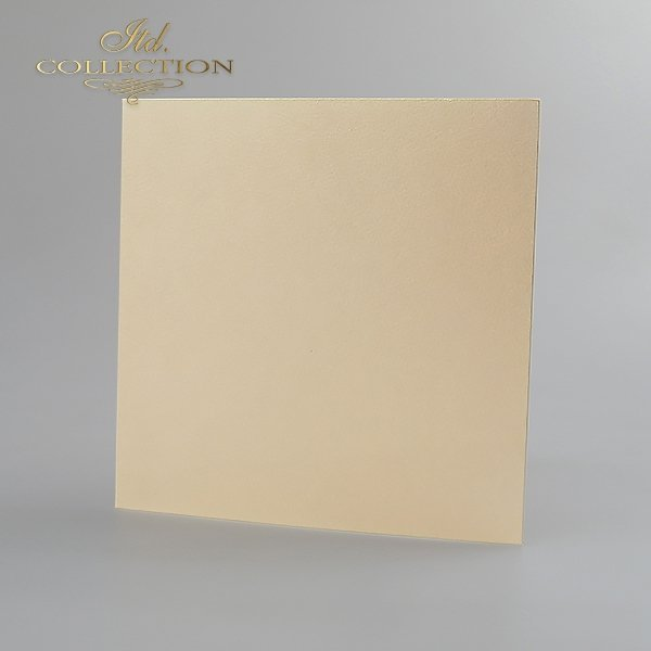 Card Base BDK-015 * cream color, iridescent paper