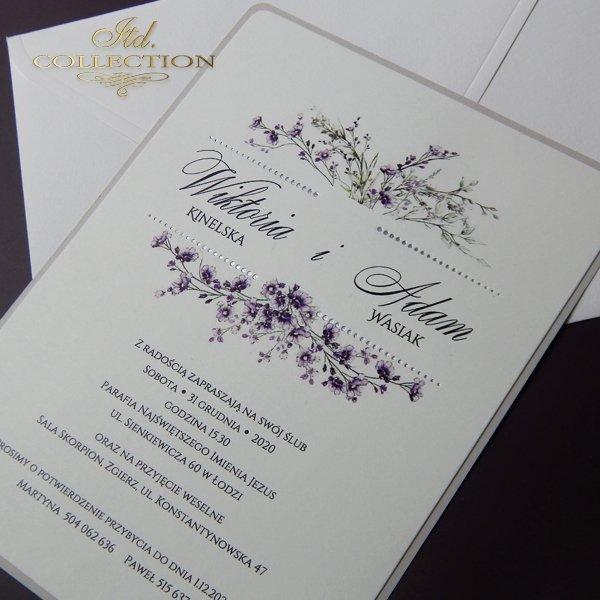 zaproszenia ślubne, zaproszenia na ślub, zaproszenia z kwiatami*wedding invitations, invitations with flowers