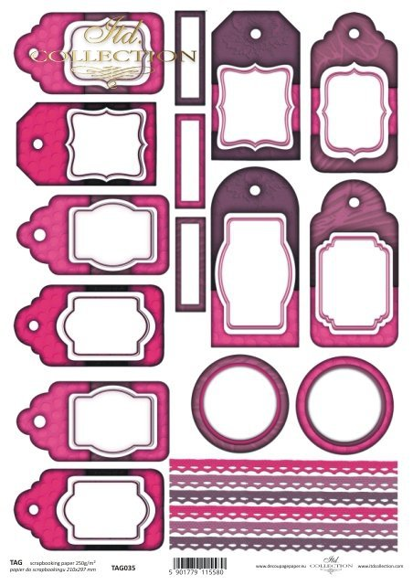 Tags, frames to scrapbooking TAG0035