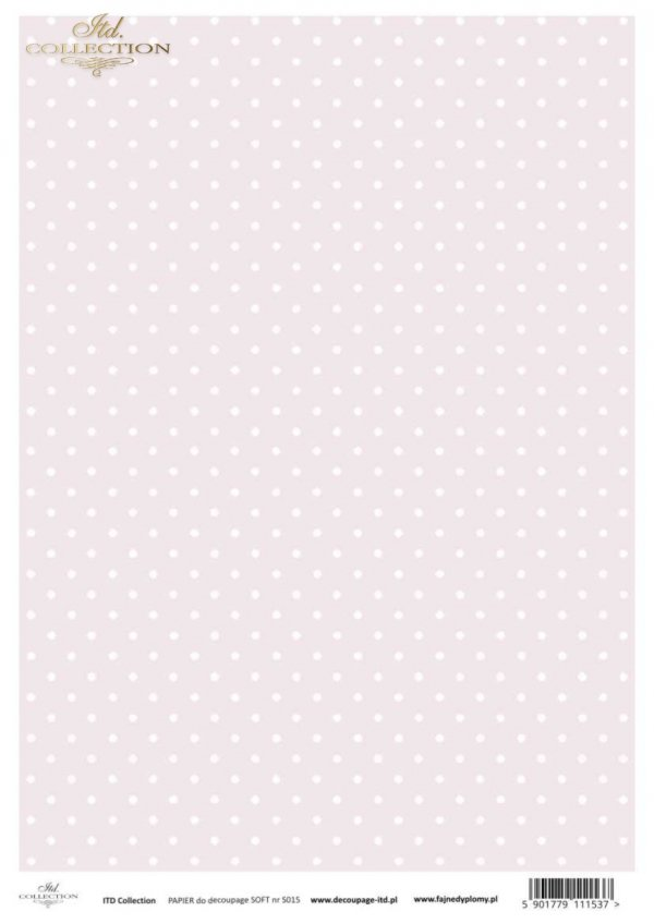 Decoupage paper Soft ITD S0015