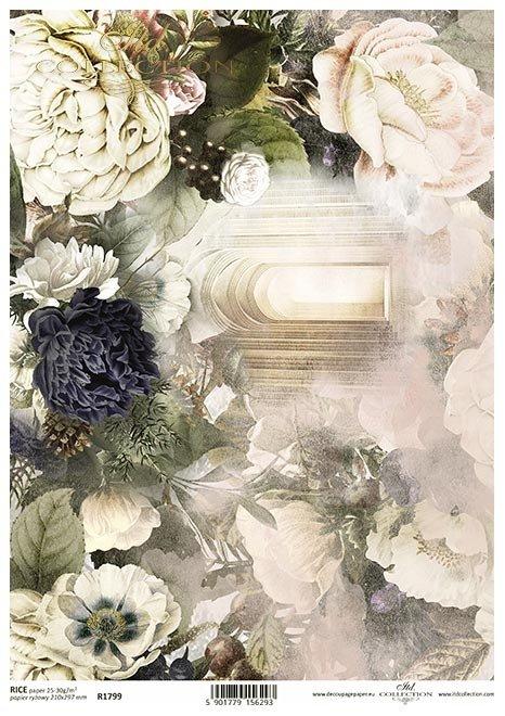 Nostalgia*Kościół, drzwi, wejście, sklepienie, kwiaty, peonie, piwonie, anemon