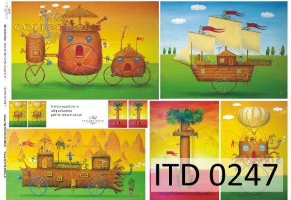 Decoupage paper ITD D0247M