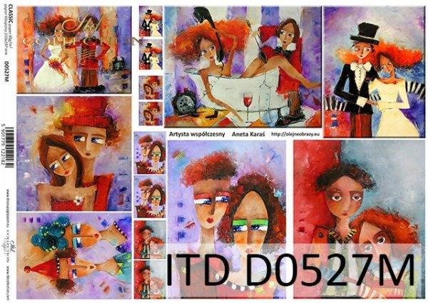 Decoupage paper ITD D0527M