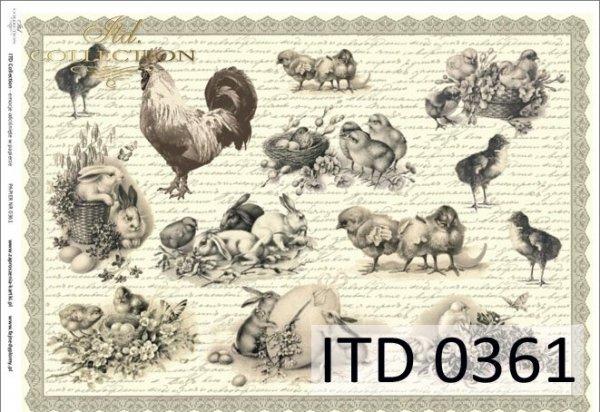 Decoupage paper ITD D0361M